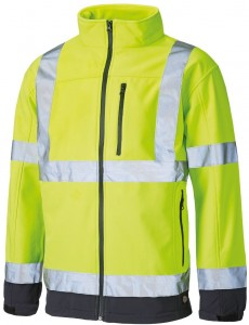 DWUKOLOROWY SOFTSHELL HI-VIS DICKIES TWO TONE