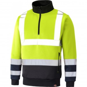 BLUZA DICKIES QUARTER ZIP HI-VIS